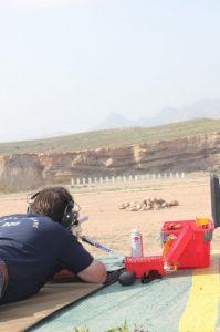 Tirador en el campo de tiro ACTOA de Almería